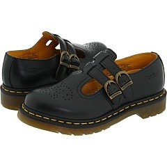 The 8065 Double Strap Mary Janes from Dr. Martens are a great addition to your casual wardrobe.Smooth leather upper in a casual Mary Jane style with a round toeWelted ConstructionPerforated design at the vamp adds interestTwin adjustable buckles ensure a secure fitSmooth lining, cushioning insoleShock-absorbing grooved midsole with signature yellow stitchingTraction outsole, 1 inch heel http://www.amazon.com/dp/B001GB0L56/?tag=icypnt-20