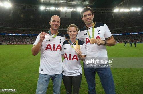 LONDON, ENGLAND - SEPTEMBER 14: Olympians Richard Hounslow,... #hounslow: LONDON, ENGLAND - SEPTEMBER 14: Olympians Richard… #hounslow
