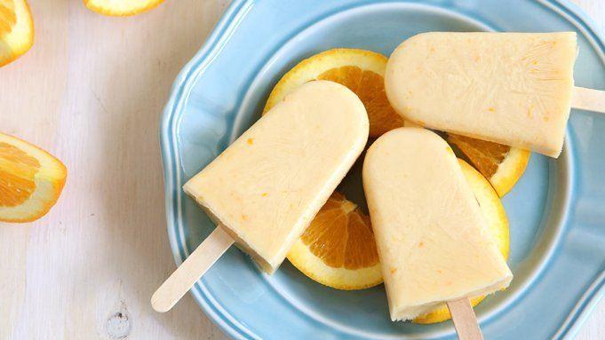 Orange-yogurt popsicles!!