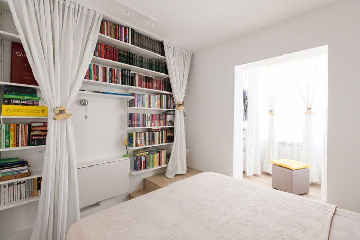 Bucharest apartment, cody bedroom, white bedroom