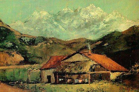 Г. Курбе. «Хижина в горах». Масло. 1874–1876.: