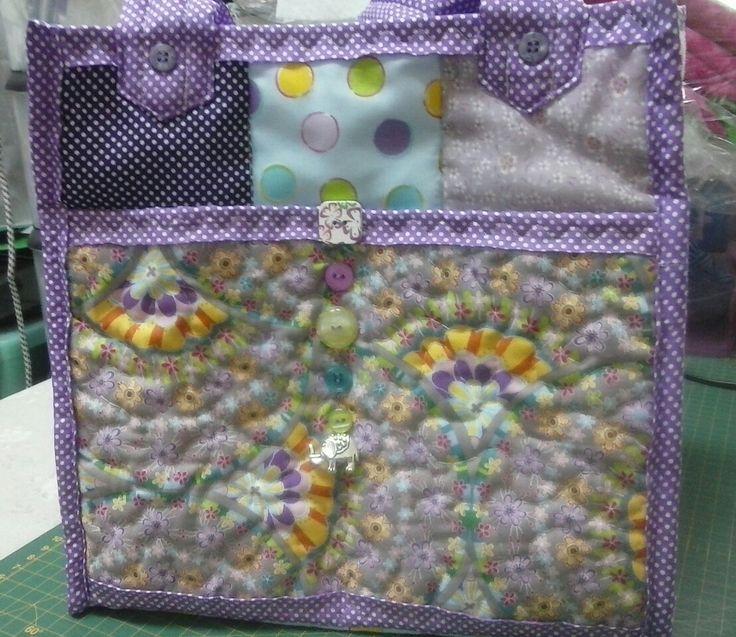 Purple Fan bag