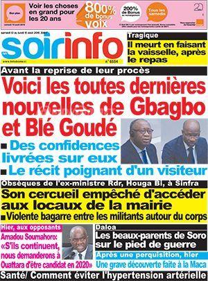 Voici les toutes dernières nouvelles de Gbagbo et Blé Goudé