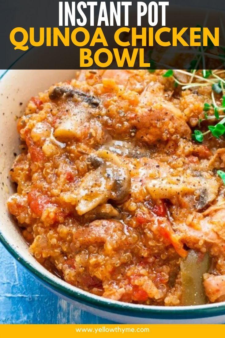 Instant Pot Quinoa Chicken Recipe Instant Pot Dinner Recipes Best Instant Pot Recipe Chicken Quinoa Bowl Recipe