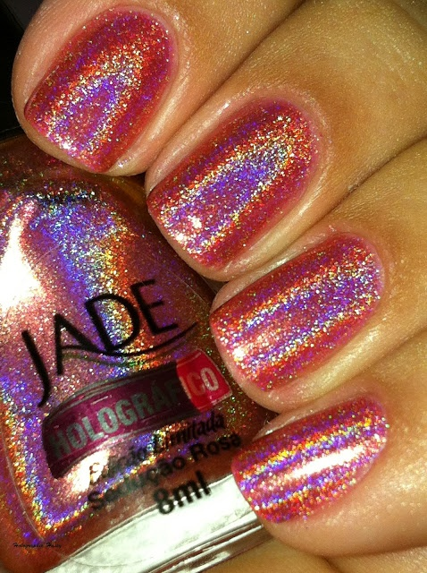Holographic Hussy: Jade Holographic Collection Part 2. So shimmery that it makes me happy.