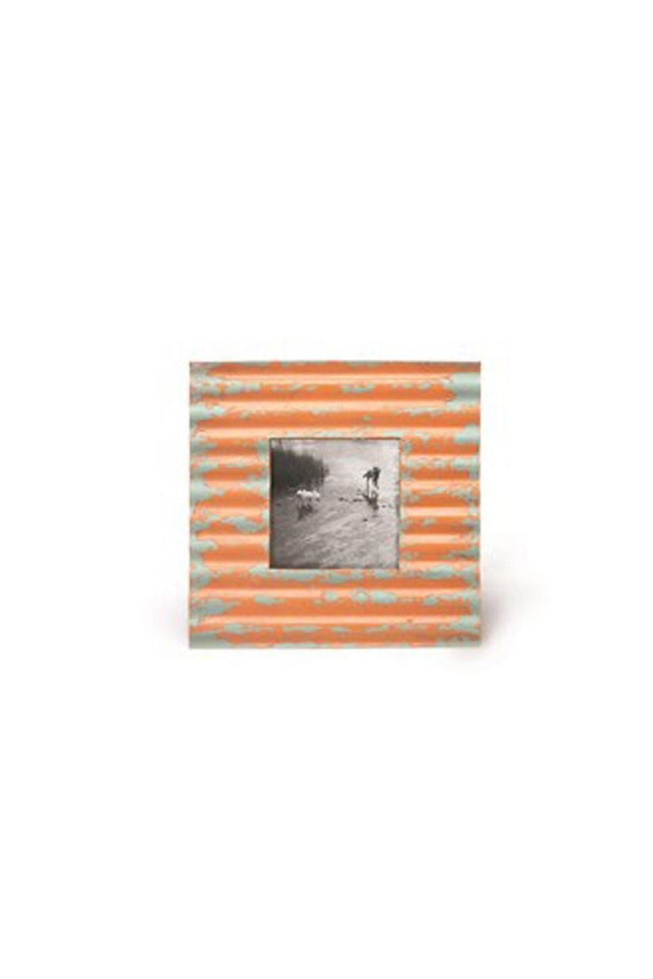 """Tangerine Metal Picture Frame. 90% Iron 10% MDF. 9.5"""" x 9.5"""" x 1.0"""" Tangerine Metal Frame by Candym. Home & Gifts - Home Decor - Frames Canada"""