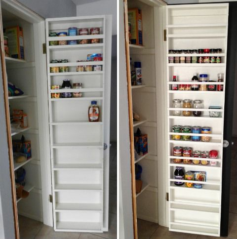 Pantry Door Shelf Home Design
