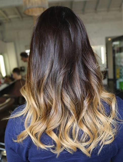 I don't know how I feel about this... Did we run out of color? Ombre is fine but I don't think there should be such extremes between the ends