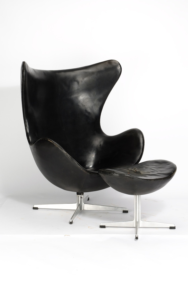 Arne Jakobsen Egg Chair Mti Ottomane Modell 3316 1957