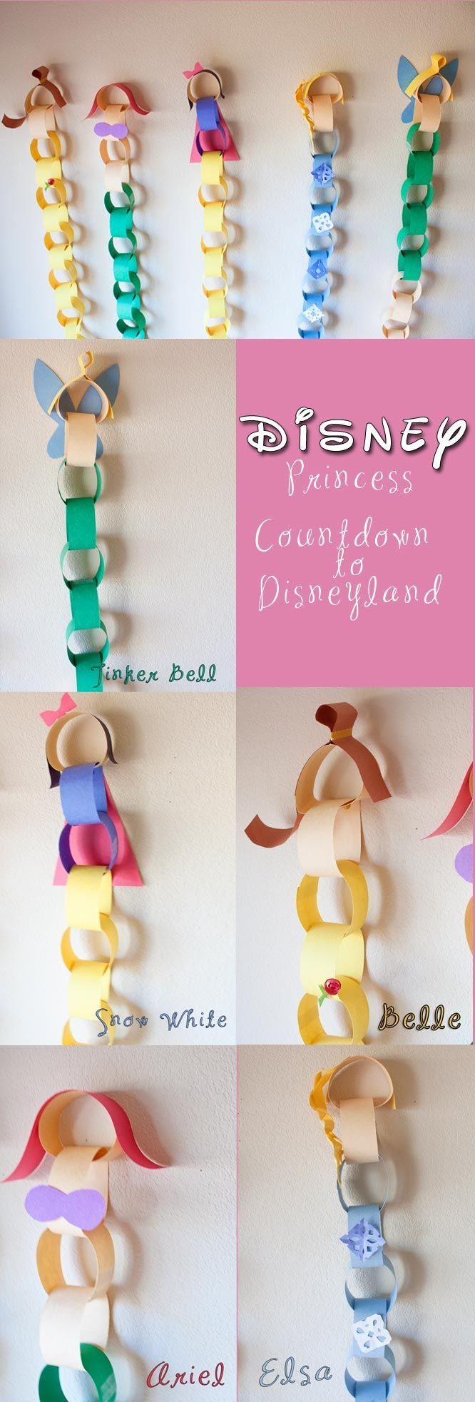 Disneyland Countdown with the Disney Princesses! How cute! | Disney Craft | Disney DIY | Disney Travel Tip |