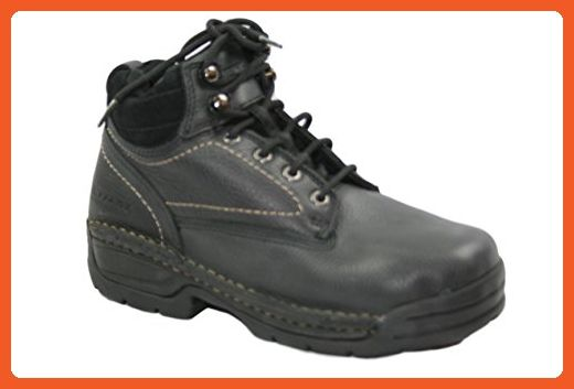 Hytest K17130 Womens 6 Opanka Steel-Toe, Electrical Hazard, Non-Slip, Safety Work Boots (Black) (5M US) - Work and saftey shoes for women (*Amazon Partner-Link)