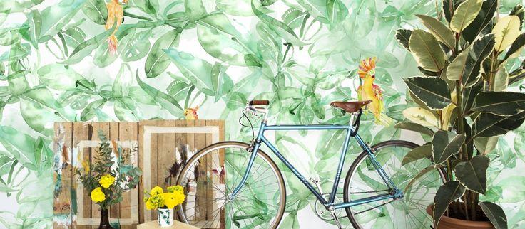 """Suunnittelija Lara Costafredan upeassa tapettimallistossa """"Alive, free and wild"""" yhdistyvät raikas Välimeren ilma ja tropiikin lämpö. Väripaletti sisältää turkoosia, vaaleanpunaista, vihreää ja keltaista upeissa vesivärein maalatuissa kuvioissa. Astu suloiseen, villiin maailmaan ja sisusta tunnelma väreillä ja lämmöllä."""