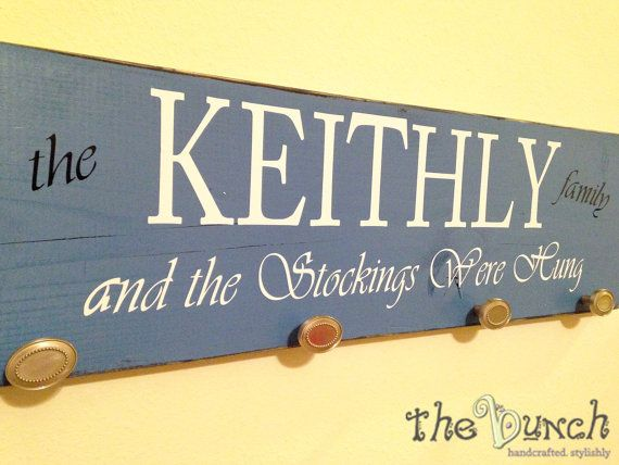 Personalized Stocking Sign And the Stockings Were by thebunchstore
