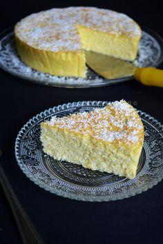 Gâteau léger de semoule avec miel et noix de coco - Light semolina cake