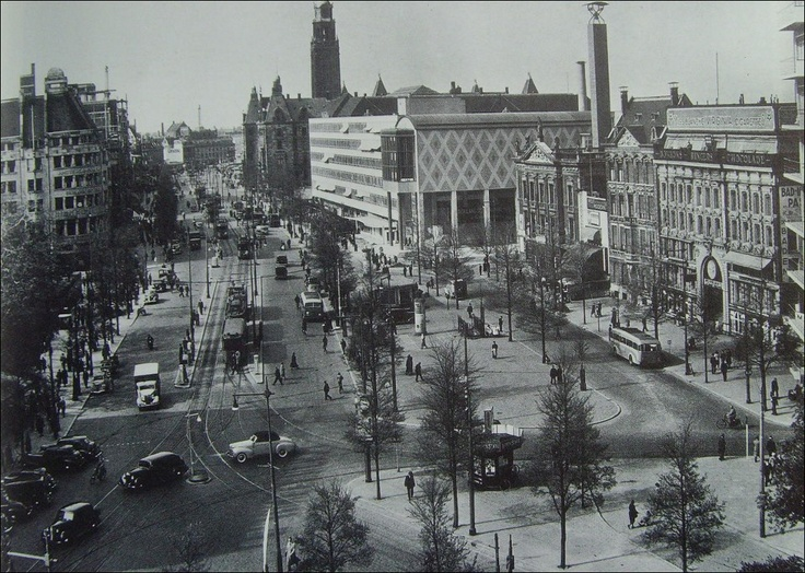 Het centrum van Rotterdam.