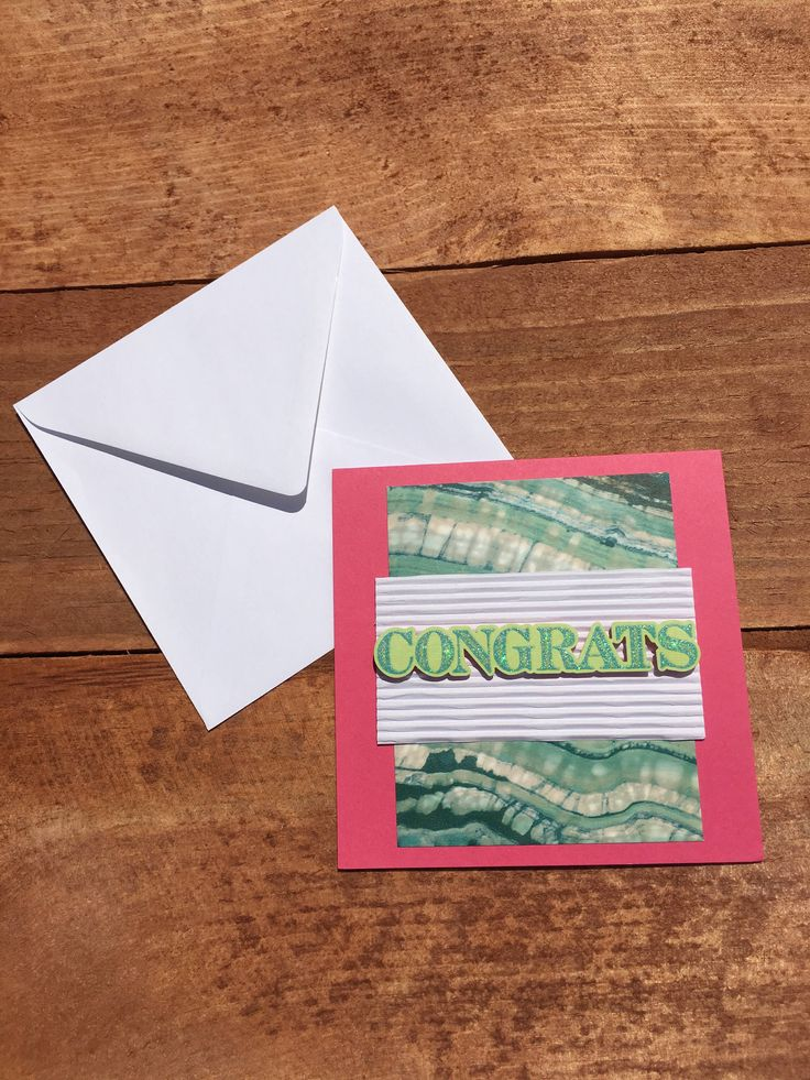 Simple | Congrats | Congratulations | Greeting Cards | Encouragement | Handmade | Handcrafted | Notecards by mrsvaught on Etsy https://www.etsy.com/listing/557828149/simple-congrats-congratulations-greeting