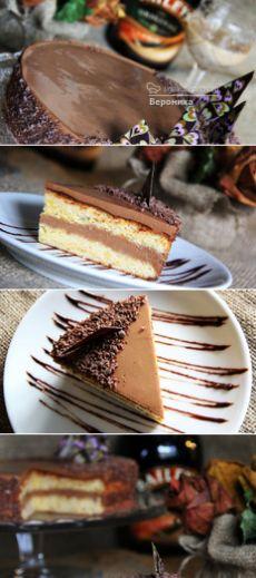 Торт с шифоновым тыквенным бисквитом - рецепт с фото пошагово.