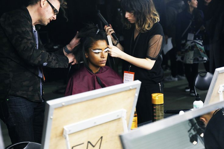Kenzo backstage FW 2015-16, Mac Cosmetics Make up, PFW