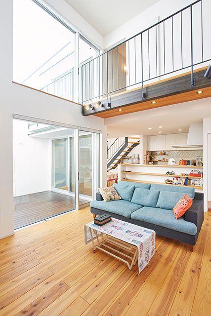 じょぶの注文住宅・事例紹介「中庭とつながる自由な暮らし」です。写真や間取り、価格など、詳しい事例をご覧いただけます。注文住宅のことなら注文住宅の総合情報サイト・ハウスネットギャラリー