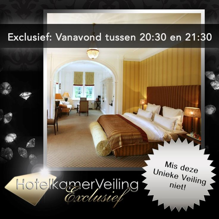Vanavond de première..... www.hotelkamerveiling.nl