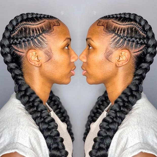 23 Stylish Ways To Wear 2 Feed In Braids Page 2 Of 2 Stayglam Feed In Braids Hairstyles Braided Hairstyles Hair Styles