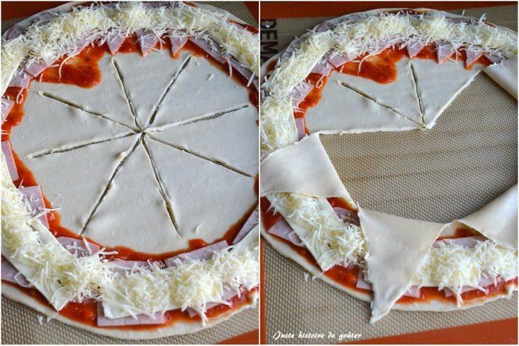 Pizza Soleil au Jambon & Fromage (avec pâte feuilletée)