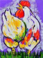 Liz - Chicken on purple