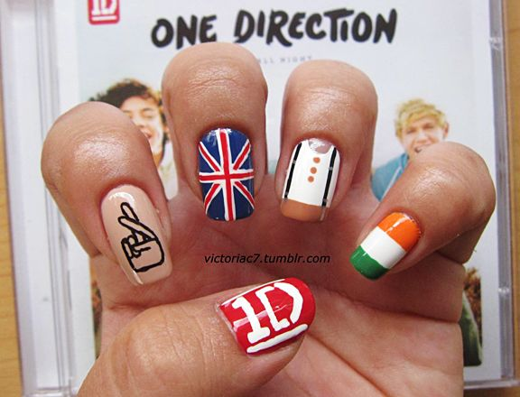 These nails are soo cool. I especially like them as they have one thing of every band member. xx