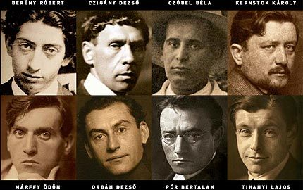 Nyolcak művészcsoport tagjai, portrék