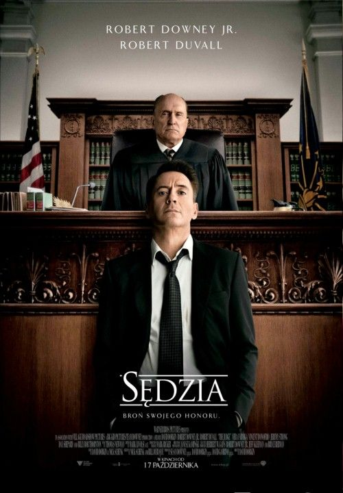 Sędzia (2014) |  Odnoszący sukcesy adwokat powraca do rodzinnego miasta na pogrzeb matki, gdzie dowiaduje się, że jego ojciec, miejscowy sędzia, podejrzany jest o morderstwo.