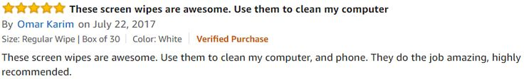 A #5Star #Review from Omar for iCloth Screen Cleaning Wipe! #AmazonDeals These screen #wipes are #awesome. Use... http://a.co/2f0t1lW
