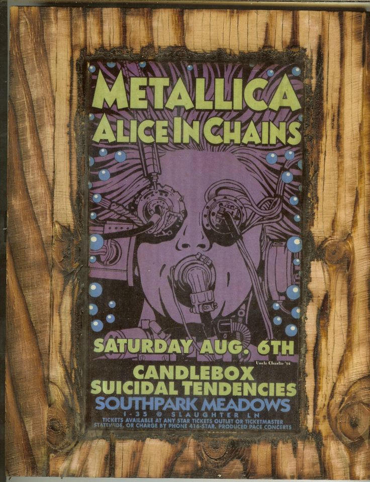 Metallica Concert Poster - Wooden Plaque by wiesbaden49 on Etsy https://www.etsy.com/listing/164047903/metallica-concert-poster-wooden-plaque