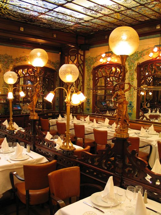 Le Montparnasse 1900 - Restaurant de viandes Paris - Gallery This is something to reference for lighting and what I meant about mirrors.