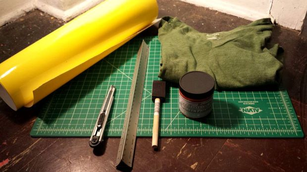 Screenprinting Ink + Vinyl Stencils = Cheap, Custom Shirts!