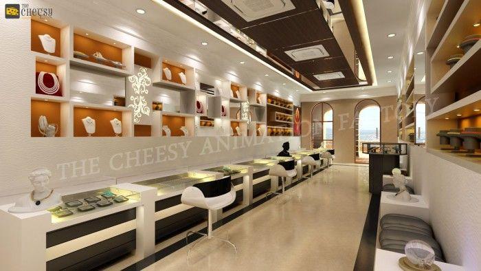 3D Jewellery Shop Interior Design