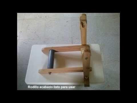 Como hacer un rodillo de madera casero para bicicleta 1ª parte - YouTube
