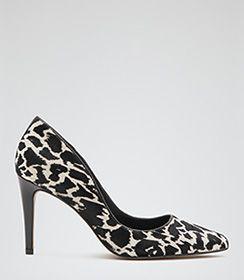 Ivy Print Animal Print Animal Print Court Shoes - REISS