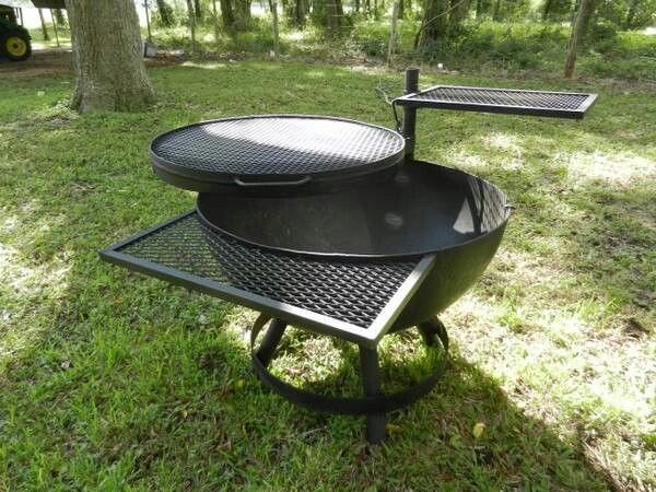 25 best ideas about fire pit grill on pinterest diy for Easy diy fire pit with grill