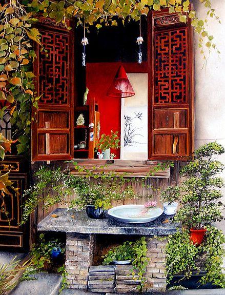 Fenetre à Wuzhen - Chine