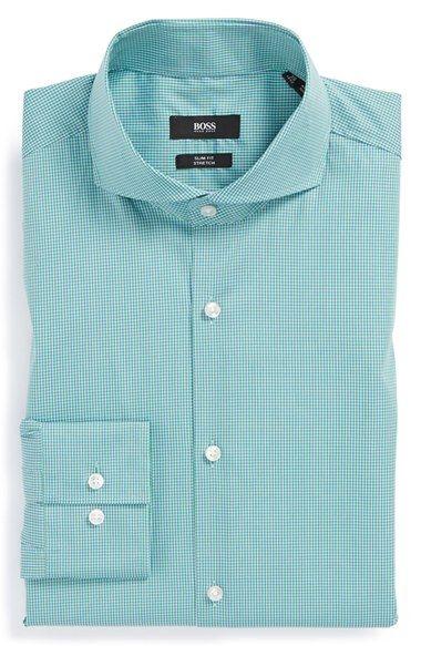 BOSS HUGO BOSS 'Dwayne' Slim Fit Stretch Check Dress Shirt | Nordstrom