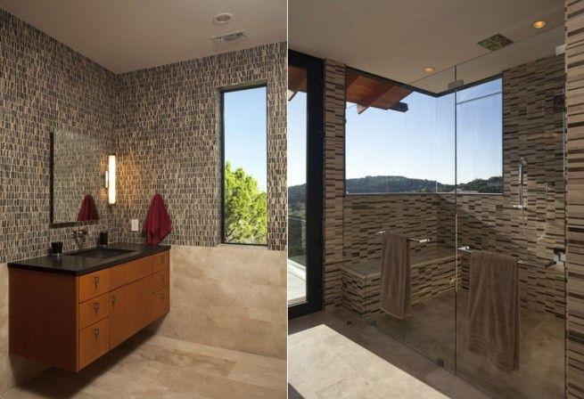 Texasban, egy meredek hegytetőn a Westlake Hills-en épült ez a 470 m2-es luxus villa.