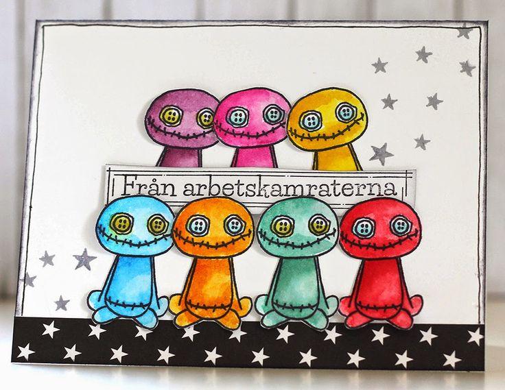 Gummiapan                           : Färgstarka arbetskamrater...