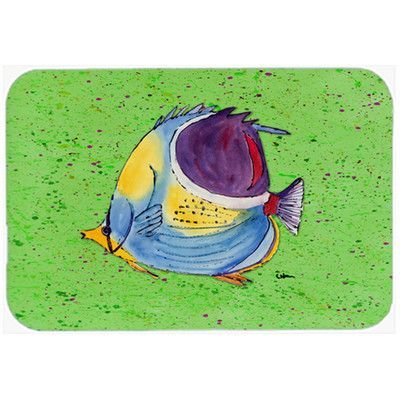 Caroline's Treasures Tropical Fish Glass Cutting Board Color: Green