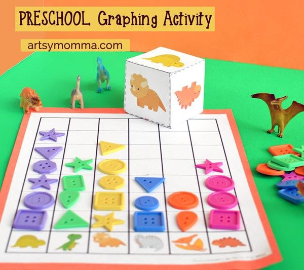 Looking for a fun way to introduce math to your preschooler? You will love this play-based dinosaur graphing activity and dino race game!