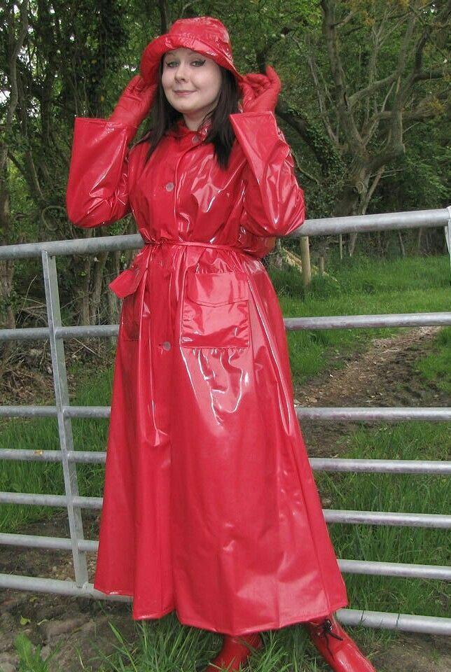 Red plastic mac | Raincoat | Pinterest | Macs, Raincoat and Red ...