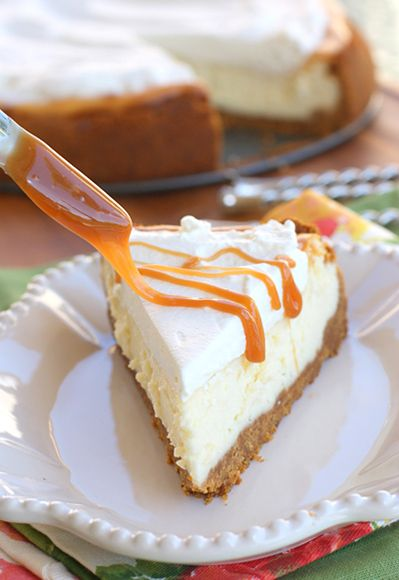 Vanilla Cheesecake w/ Salted Caramel