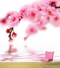 Fototapet personalizat Flori roz