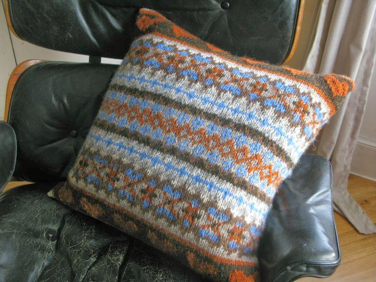 littletheorem: Chunky Fairisle Cushion