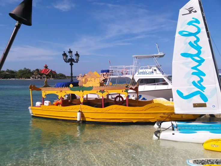 You and your guests can ride on this to your ceremony or reception on Sandals Cay