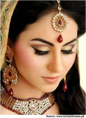 Maang Tikka Worn By An Indian Bride